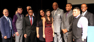 Faculty and students from El Centro Community College and Dr. Wright L. Lassiter ECHS pose with the honoree